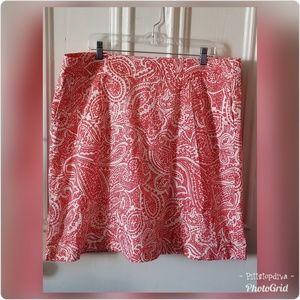 Lands' End Skirts - Lands' End Coral Paisley Print Skirt